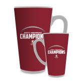 Full Color Latte Mug 17oz-2017 NEWMAC Football Champions Half Ball
