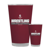 Full Color Glass 17oz-Wrestling - 1000 Dual Victories