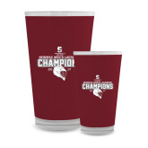 Full Color Glass 17oz-NEWMAC Mens Lacrosse Champions