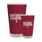 Full Color Glass 17oz-D3 Mens Volleyball National Champions
