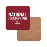 Hardboard Coaster w/Cork Backing-D3 Mens Volleyball National Champions