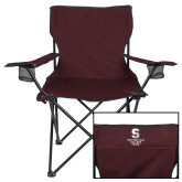 Deluxe Maroon Captains Chair-Springfield College Pride