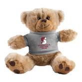 Plush Big Paw 8 1/2 inch Brown Bear w/Grey Shirt-Springfield College Pride