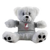 Plush Big Paw 8 1/2 inch White Bear w/Grey Shirt-Springfield College Pride