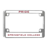 Metal Motorcycle License Plate Frame in Chrome-Pride