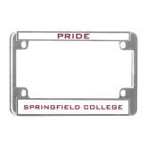 Metal Motorcycle License Plate Frame in Chrome-Pride