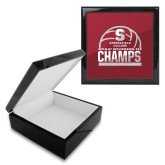 Ebony Black Accessory Box With 6 x 6 Tile-NCAA III Mens Volleyball Champs