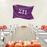 2 ft x 4 ft Fan WallSkinz-Sigma Pi Waving Flag Image