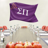 3 ft x 6.5 ft Fan WallSkinz-Sigma Pi Waving Flag Image