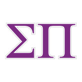 Medium Decal-Greek Letters Two Tone