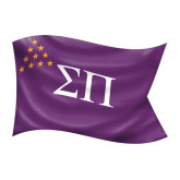 Medium Decal-Sigma Pi Waving Flag Image