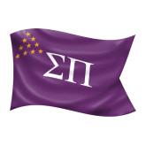 Medium Decal-Sigma Pi Waving Flag Image