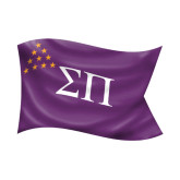 Small Decal-Sigma Pi Waving Flag Image