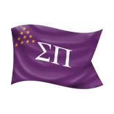 Small Decal-Sigma Pi Waving Flag Image