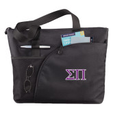 Excel Black Sport Utility Tote-Greek Letters Two Tone