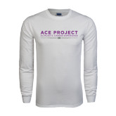 White Long Sleeve T Shirt-ACE Project
