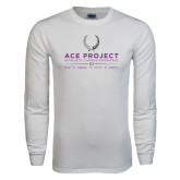 White Long Sleeve T Shirt-ACE Project w/scholar