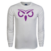 White Long Sleeve T Shirt-Icon