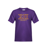 Youth Purple T Shirt-Greek Letters Legacy