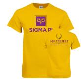 Gold T Shirt-Vertical Logomark w/Text