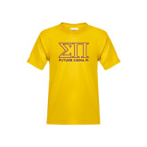 Youth Gold T Shirt-Greek Letters Future Sigma Pi