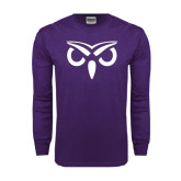 Purple Long Sleeve T Shirt-Icon