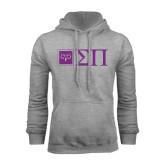 Grey Fleece Hoodie-Horizontal Logomark w/Letters