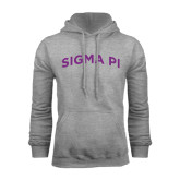 Grey Fleece Hoodie-Arched Sigma Pi