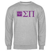 Grey Fleece Crew-Horizontal Logomark w/Letters
