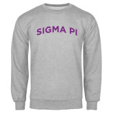 Grey Fleece Crew-Arched Sigma Pi