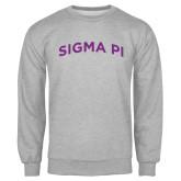Grey Fleece Crew-Arched Sigma Pi