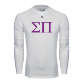 Under Armour White Long Sleeve Tech Tee-Greek Letters