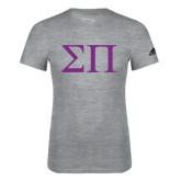 Adidas Sport Grey Logo T Shirt-Greek Letters
