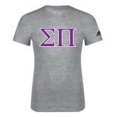Adidas Sport Grey Logo T Shirt-Greek Letters Two Tone
