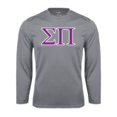 Performance Steel Longsleeve Shirt-Greek Letters Two Tone