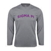 Performance Steel Longsleeve Shirt-Arched Sigma Pi