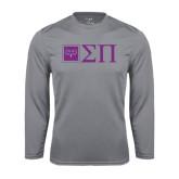 Performance Steel Longsleeve Shirt-Horizontal Logomark w/Letters