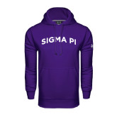 Under Armour Purple Performance Sweats Team Hoodie-Arched Sigma Pi