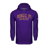 Under Armour Purple Performance Sweats Team Hoodie-Alumni