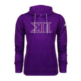 Adidas Climawarm Purple Team Issue Hoodie-Greek Letters Two Tone