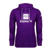 Adidas Climawarm Purple Team Issue Hoodie-Vertical Logomark w/Text
