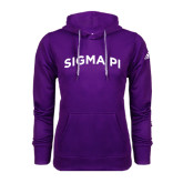 Adidas Climawarm Purple Team Issue Hoodie-Arched Sigma Pi