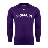 Under Armour Purple Long Sleeve Tech Tee-Arched Sigma Pi