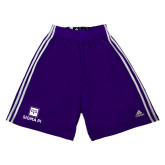Adidas Climalite Purple Practice Short-Vertical Logomark w/Text