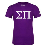 Adidas Purple Logo T Shirt-Greek Letters