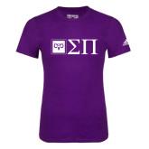 Adidas Purple Logo T Shirt-Horizontal Logomark w/Letters