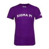 Adidas Purple Logo T Shirt-Arched Sigma Pi