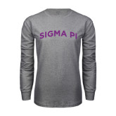 Grey Long Sleeve T Shirt-Arched Sigma Pi