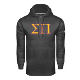 Under Armour Carbon Performance Sweats Team Hoodie-Greek Letters Two Tone