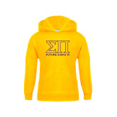 Youth Gold Fleece Hood-Greek Letters Future Sigma Pi
